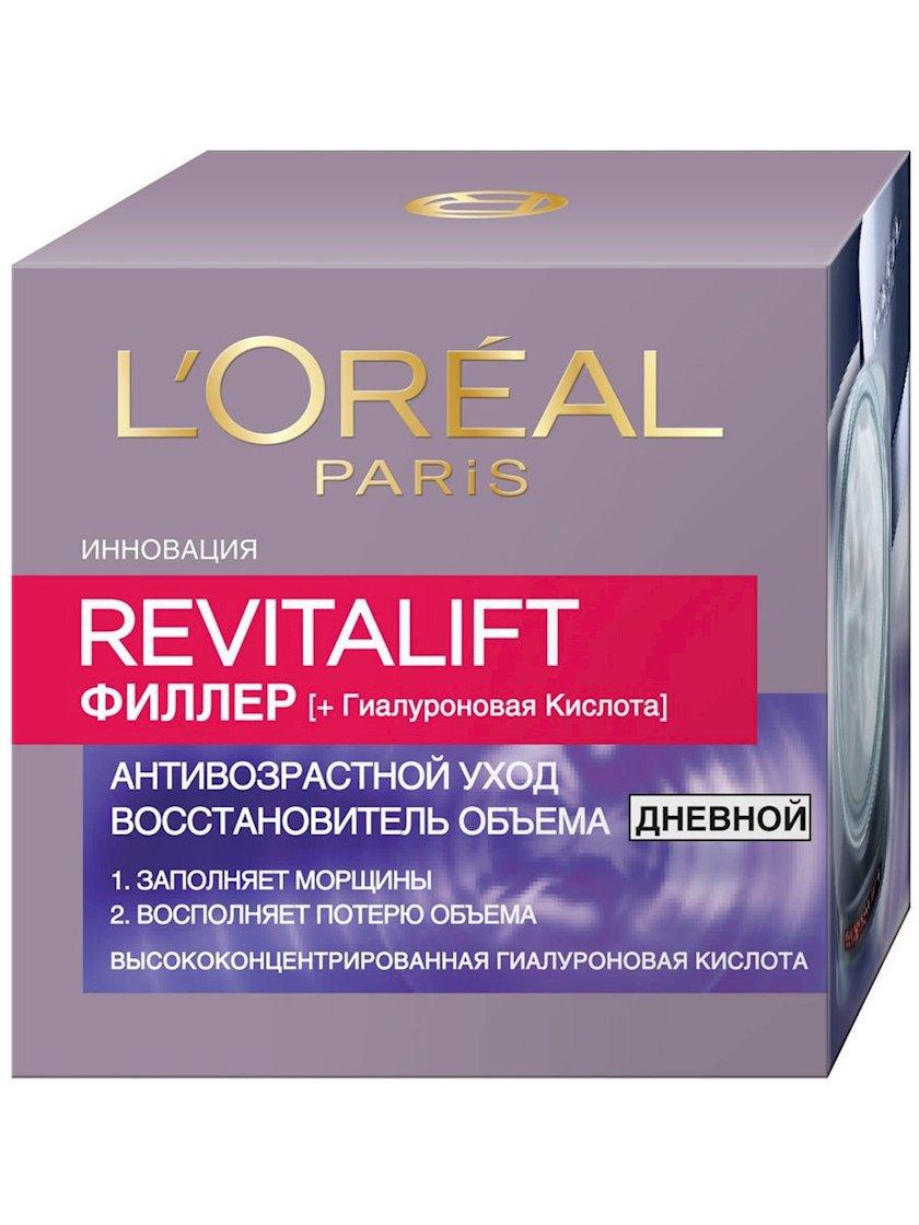 Üz üçün gündüz krem-qulluq L'Oréal Paris Revitalift Filler Həcm bərpa edici, 50 ml