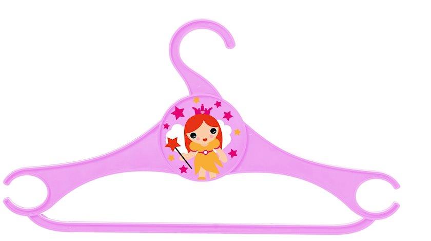Paltarasan Herevin Hanger for Children, Princess, şahzadə, çəhrayı, 6 ədəd