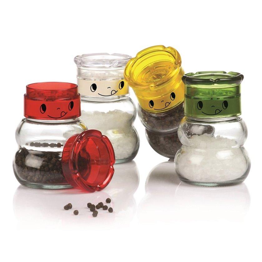 Dəyirman Herevin, plastik, şüşə, 150 ml, qırmızı, sarı, ağ, yaşıl