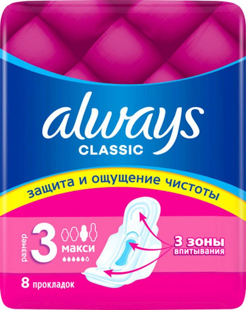 Gigiyenik bezlər Always Classic Maxi Single, 8 əd