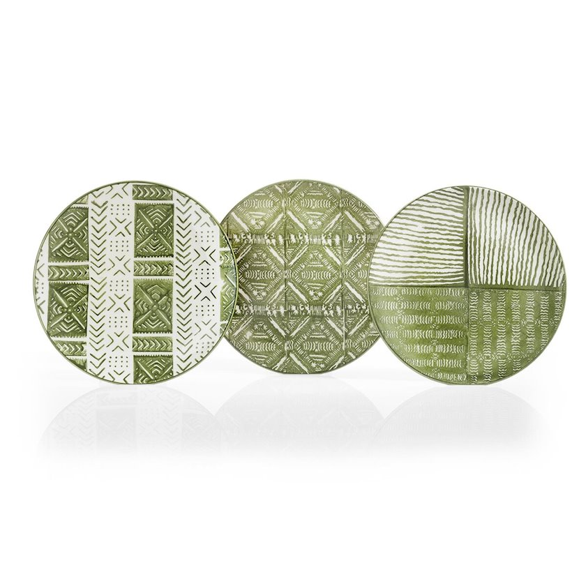 Servis boşqabı Schafer Airy,26 sm,Keramika,6 hissə,Yaşıl