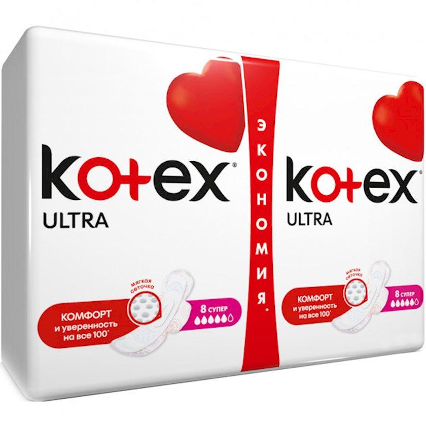 Gigiyenik bezlər Kotex Ultra Dry Super, 16 əd