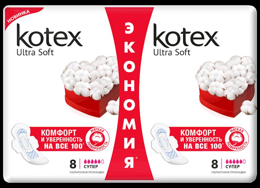 Gigiyenik bezlər Kotex Ultra Soft Super Duo, 16 əd
