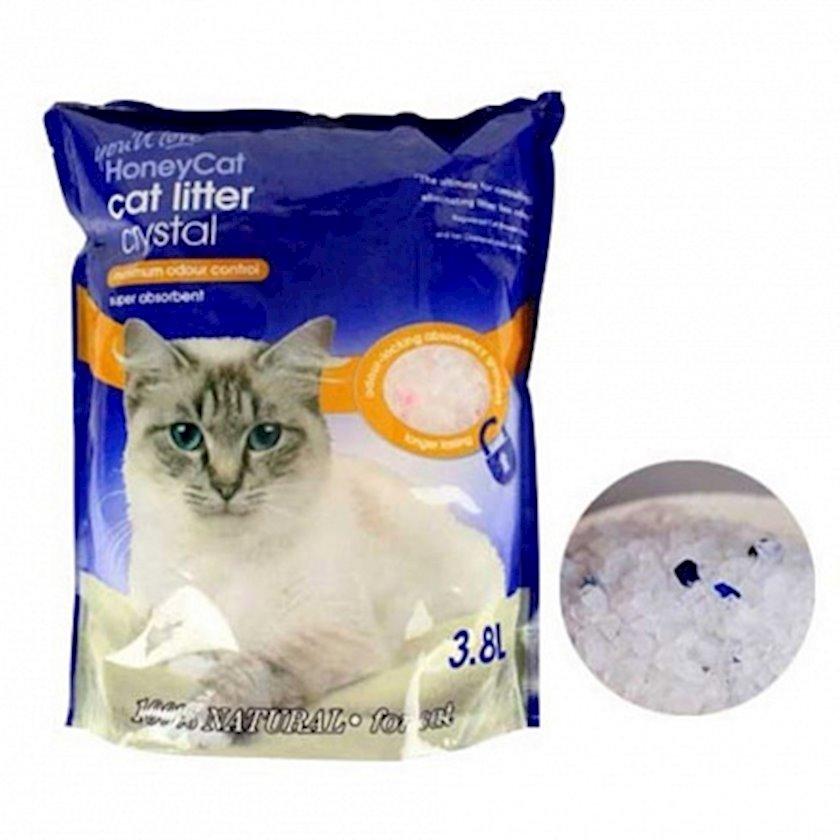 Hopdurucu doldurucu HoneyCat Cyrstal Cat Litter 3.8 l