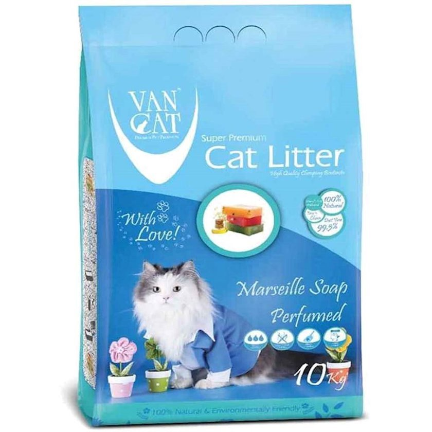 Topalaşan doldurucu Van Cat Super Premium Quality Marseille Soap 10 kq