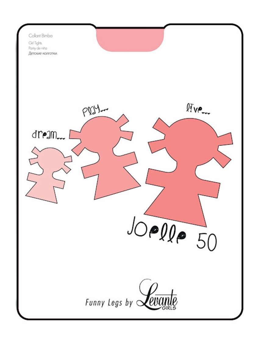 Kolqotkalar Levante Joelle Collant Bimba, 50den, 4/Rosso, çəhrayı