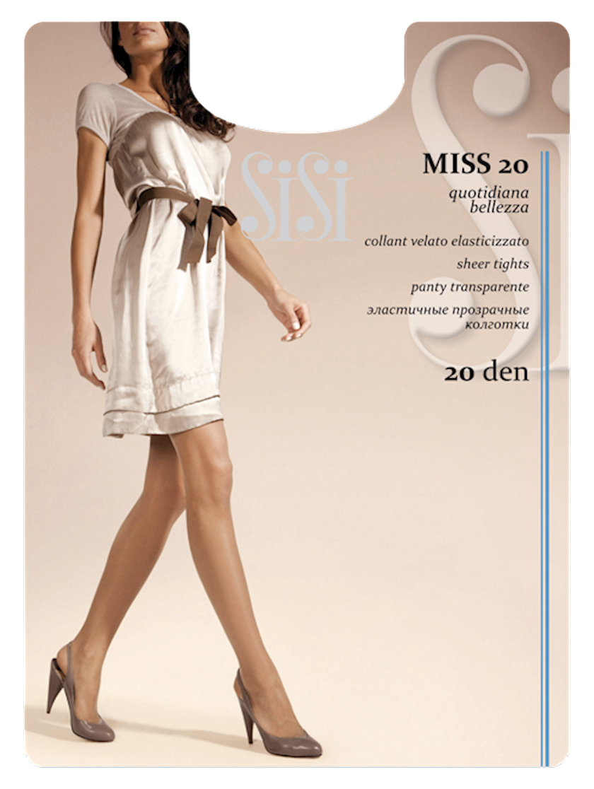 Kolqotqa SiSi Miss, 20den, ölçü 5(XL), Nero, qara