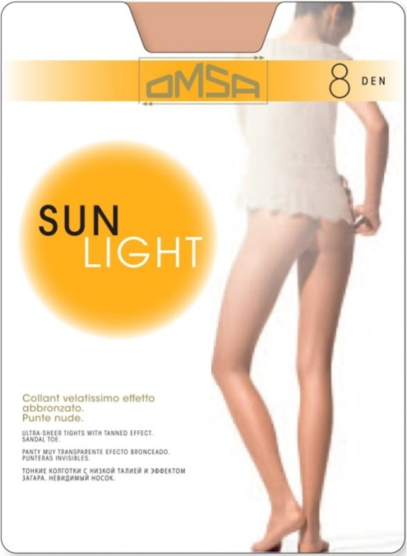 Kolqotqa Omsa Sun Light, 8den, ölçü 2(S), Beige Naturel, bej-bədən rəngi