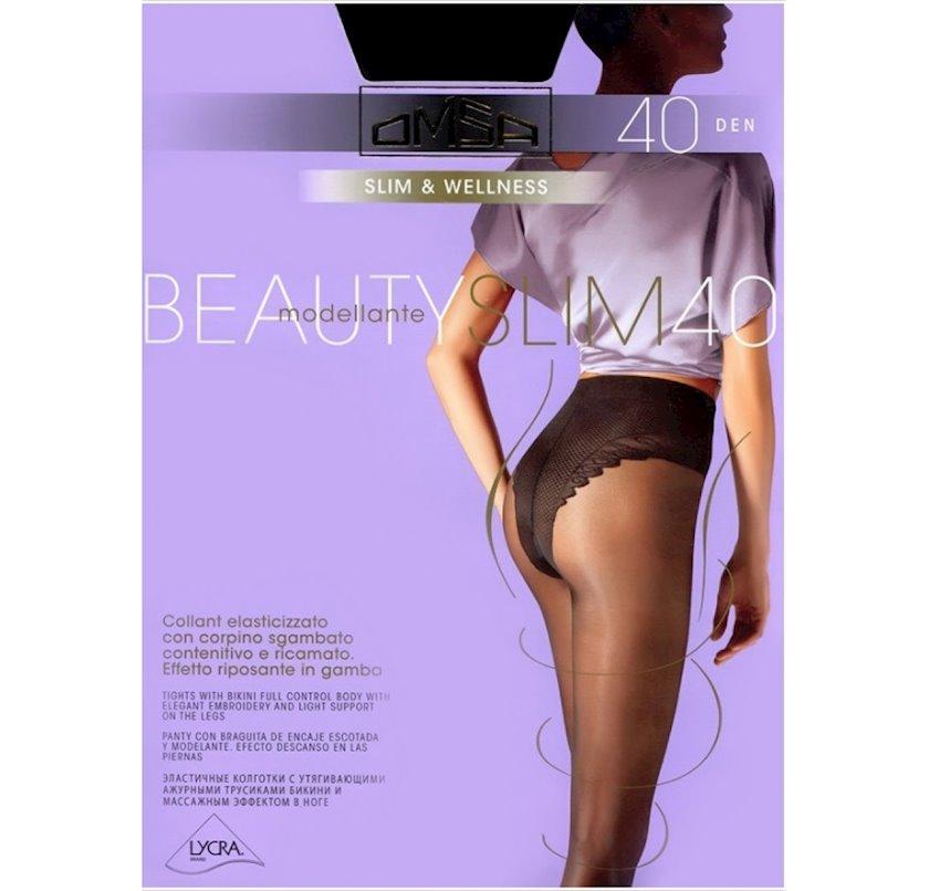 Kolqotqa Omsa Beauty slim, 40den, ölçü 3(M), Caramello, bej