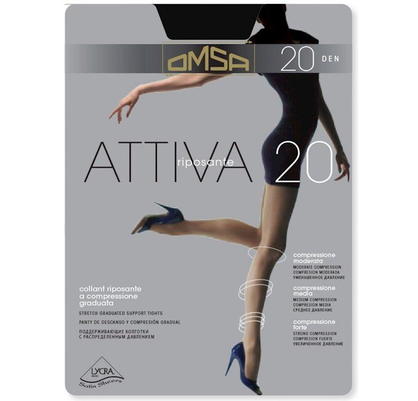 Kolqotqa Omsa Attiva, 20den, ölçü 5(XL), Nero, qara