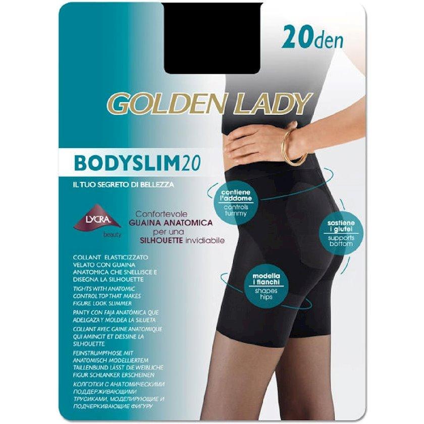 Kolqotqa Golden Lady Bodyslim, 20den, ölçü 2(S), Daino, mis çalarlı qaralma