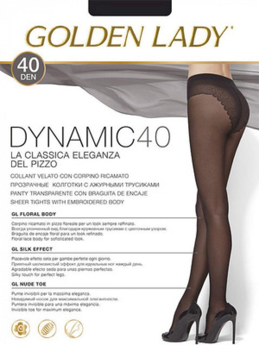 Kolqotqa Golden Lady Dynamic, 40den, ölçü 4(L), Nero, qara