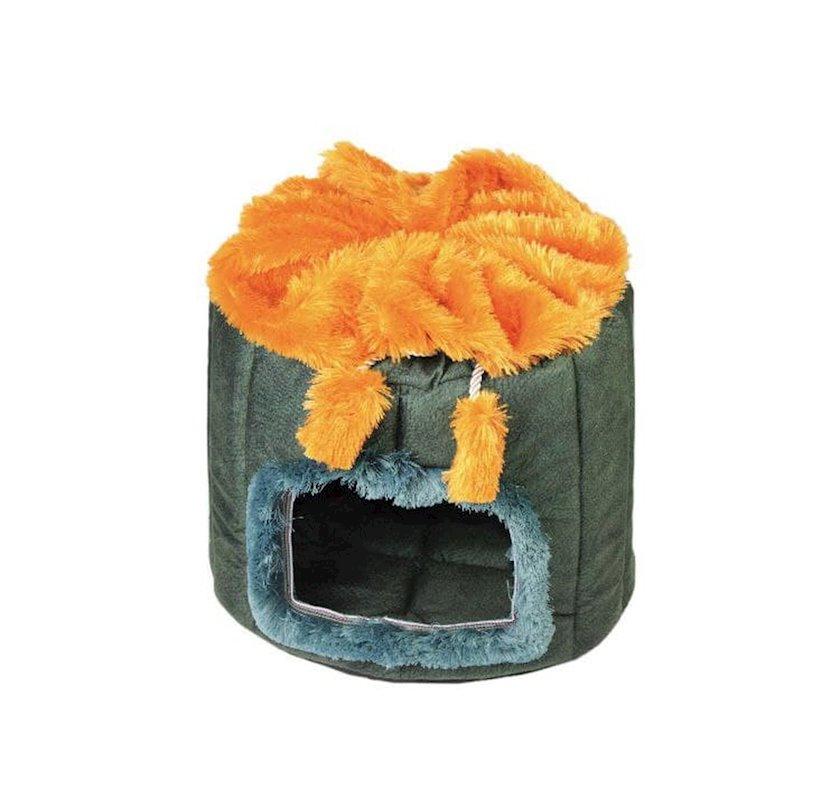 Evcik pişiklər və xırda itlər üçün Zoomir Murena Orange Blue xəz ilə