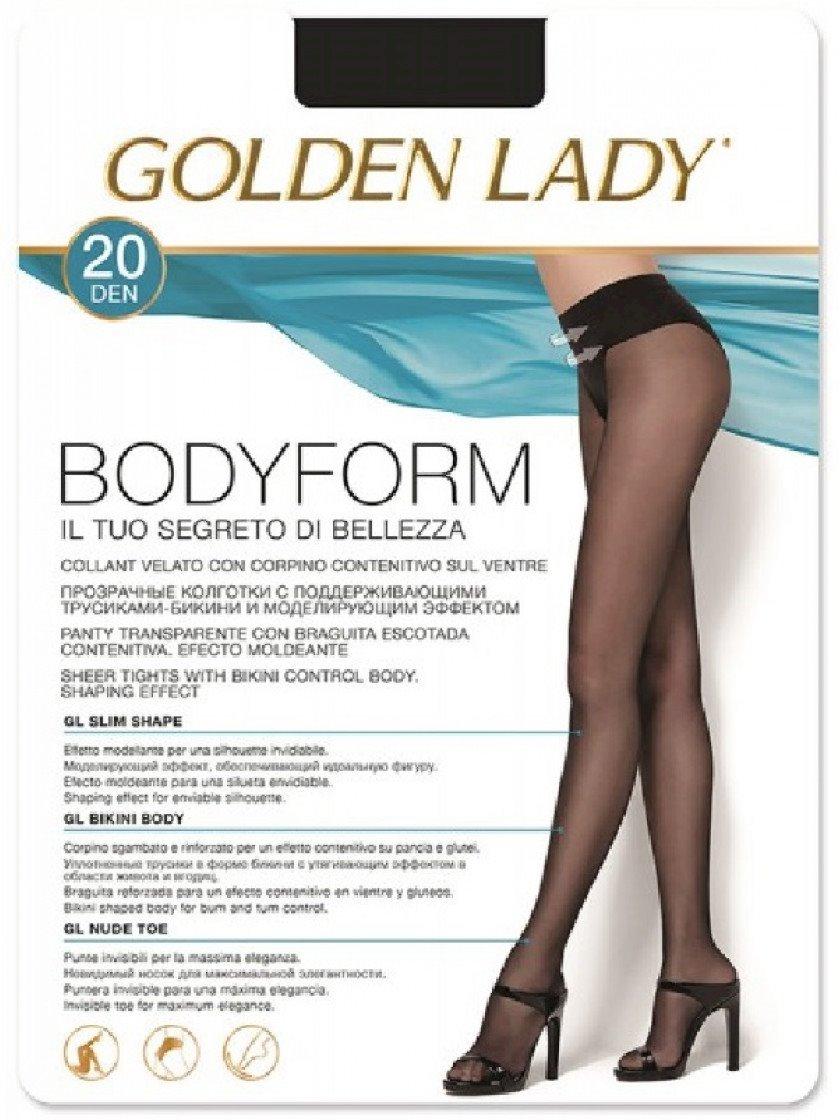 Kolqotqa Golden Lady Bodyform Fumo, 20den, ölçü 2(S), Fumo, boz
