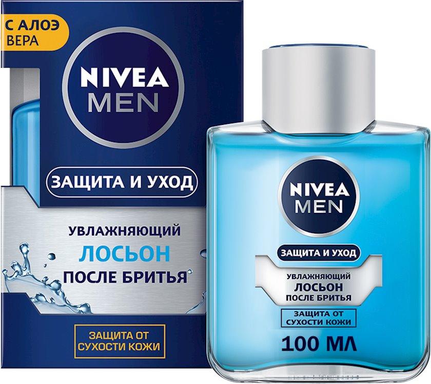 Təraş sonrası losyon Nivea Men müdafiə və qulluq, nəmləndirici əzvay ilə 100 ml