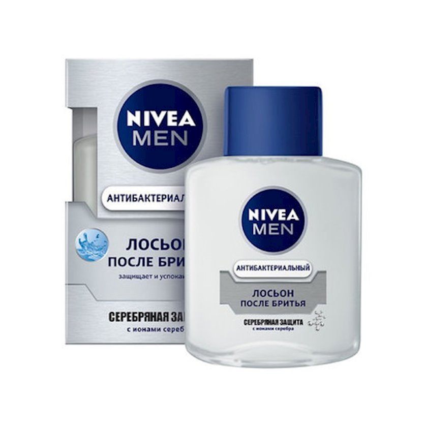 Təraş sonrası losyon Nivea Men gümüşü müdafiə gümüş ionları və antibakterial effekt ilə 100 ml
