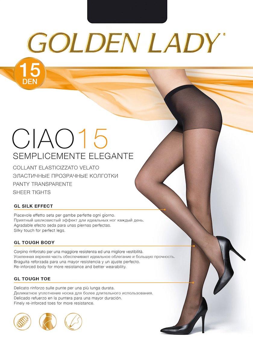 Kolqotqa Golden Lady Ciao, 15den, ölçü 2(S), Nero, qara