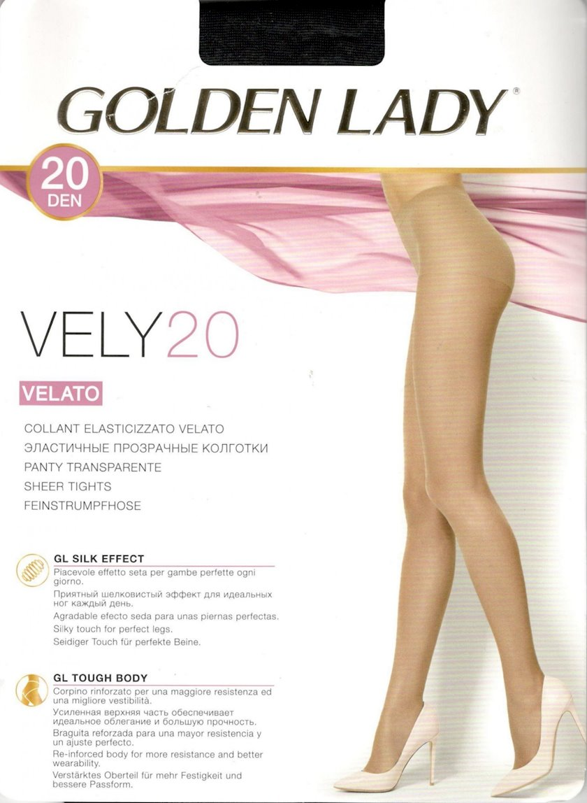 Kolqotqa Golden Lady Vely, 20den, ölçü 2(S), Nero, qara