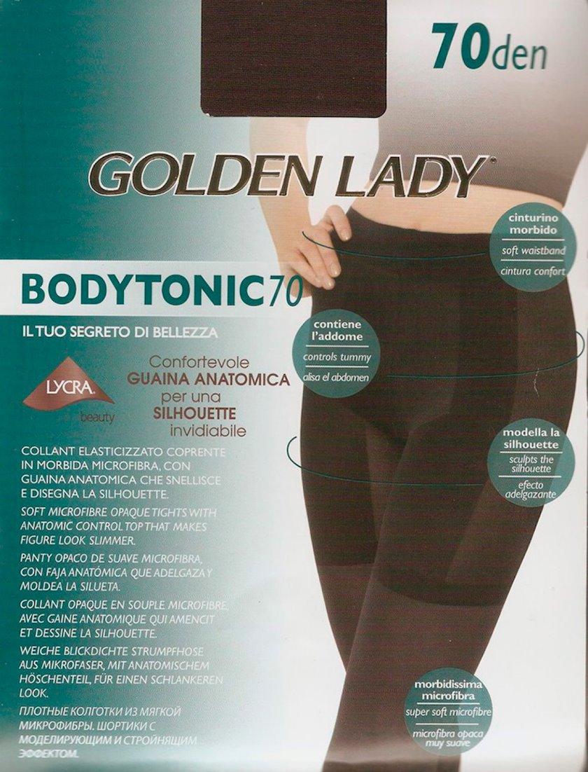 Kolqotqa Golden Lady BodyTonic, 70den, ölçü 2(S), Marron-scudo, şokolad