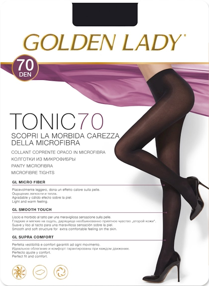 Kolqotqa Golden Lady Tonic, 70den, ölçü 3(M), Nero, qara