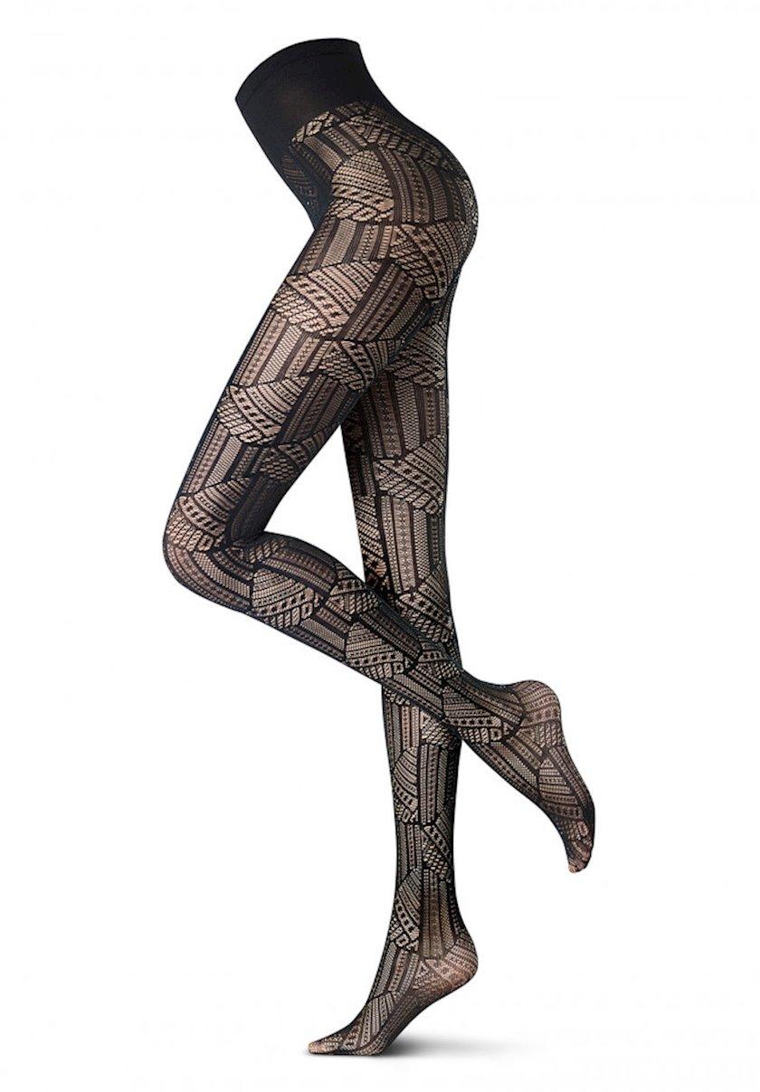 Kolqotqa Oroblu Abstract Mystery, 40den, ölçü L, Gray melange, boz