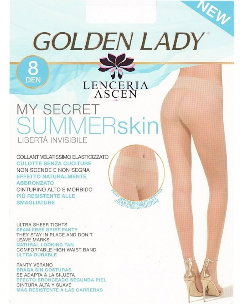 Kolqotqa Golden Lady My Secret Summer, 8den, ölçü 4(L), Dakar, qaralma rəngi