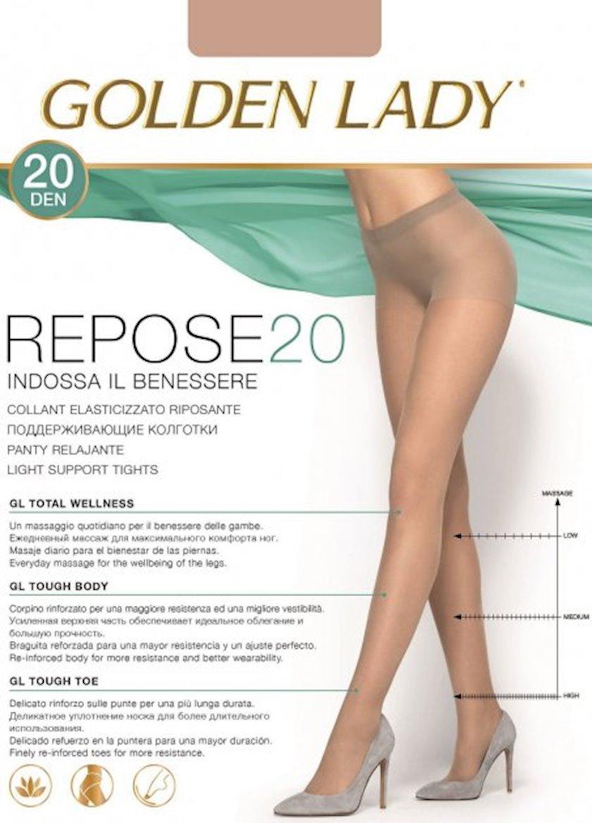 Kolqotqa Golden Lady Repose, 20 den, ölçü 4(L), Camoscio, tünd qaralma