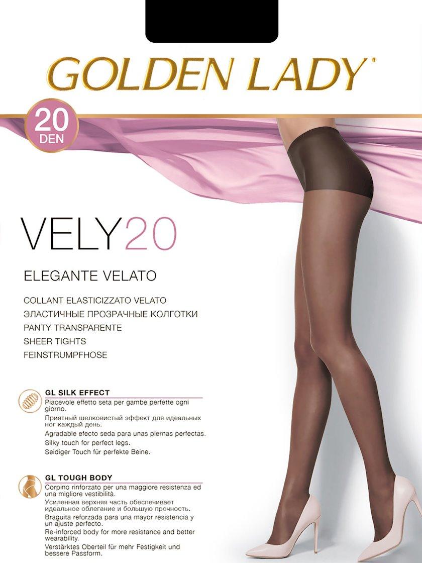 Kolqotqa Golden Lady Vely, 20 den, ölçü 4(L), Nero, qara