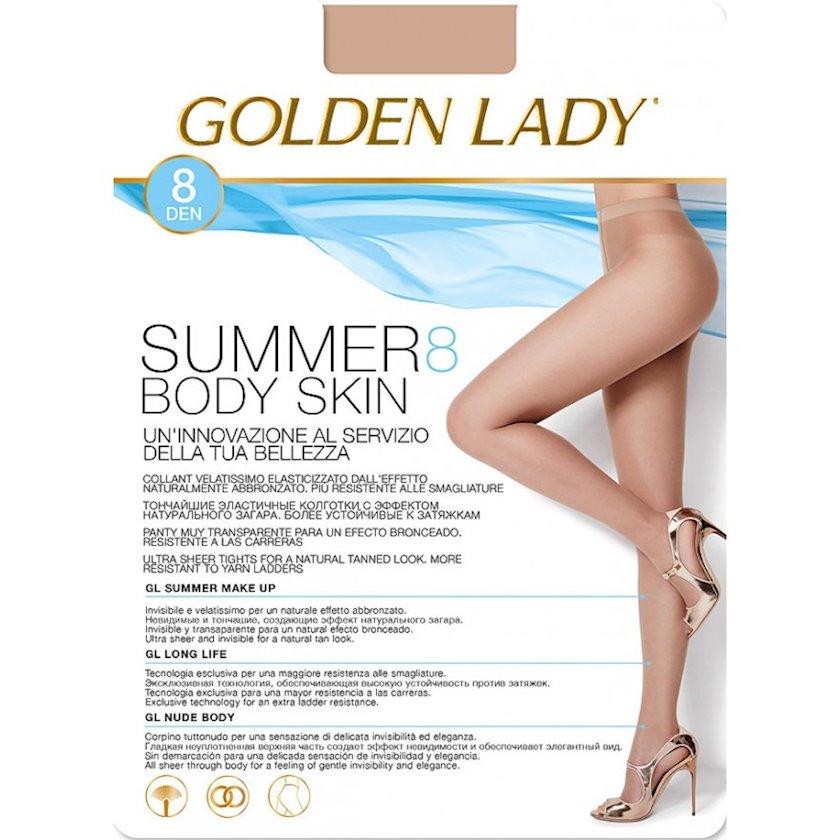 Kolqotqa Golden Lady Summer Body Skin, 8 den, ölçü 2(S), The, qaralma rəngi