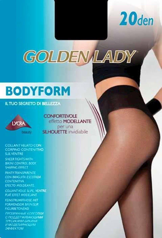 Kolqotqa Golden Lady Bodyform, 20 den, ölçü 4(L), Nero, qara