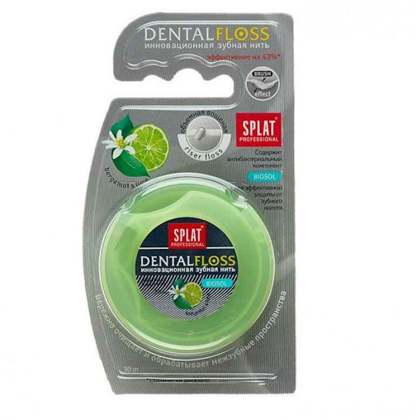 Diş ipi Splat Professional Dental Floss Antibakterial həcmli berqamot və laym ətri ilə 30 metr