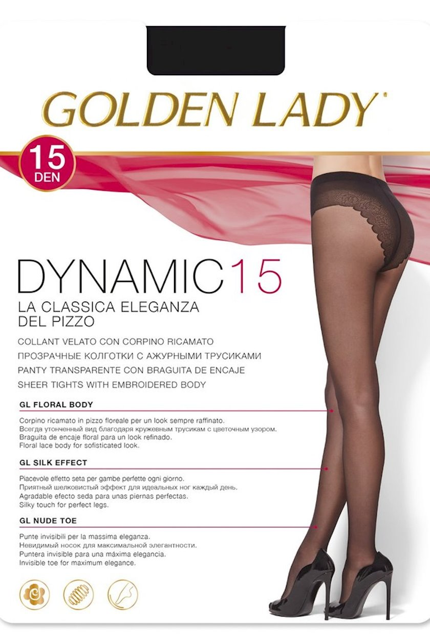 Kolqotqa Golden Lady Dynamic, 15 den, ölçü 2(S), Beaver, tüstülü qaralma rəngi