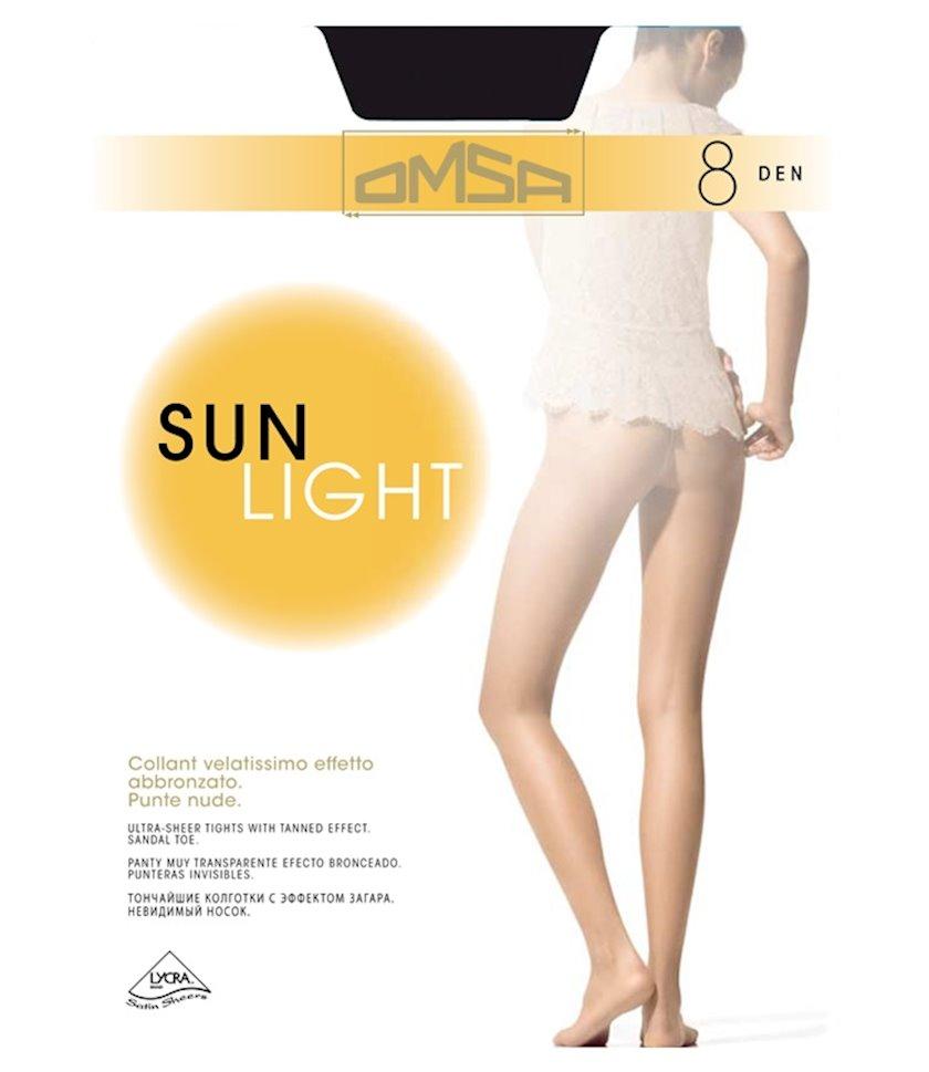 Kolqotqa Omsa Sun Light, 8 den, ölçü 5(XL), Nero, qara