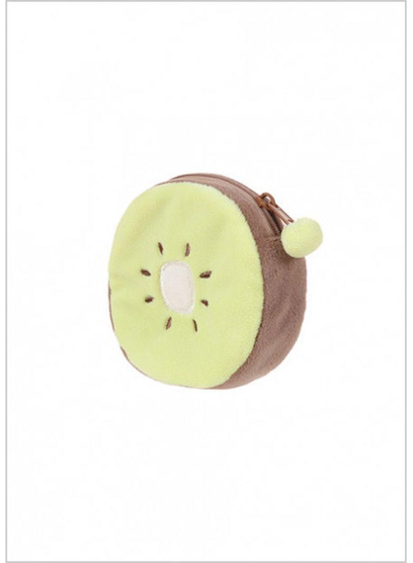 Qızlar üçün Polyester pulqabı Miniso Fruit Series-Coin Purse Kiwi Fruit, yaşıl