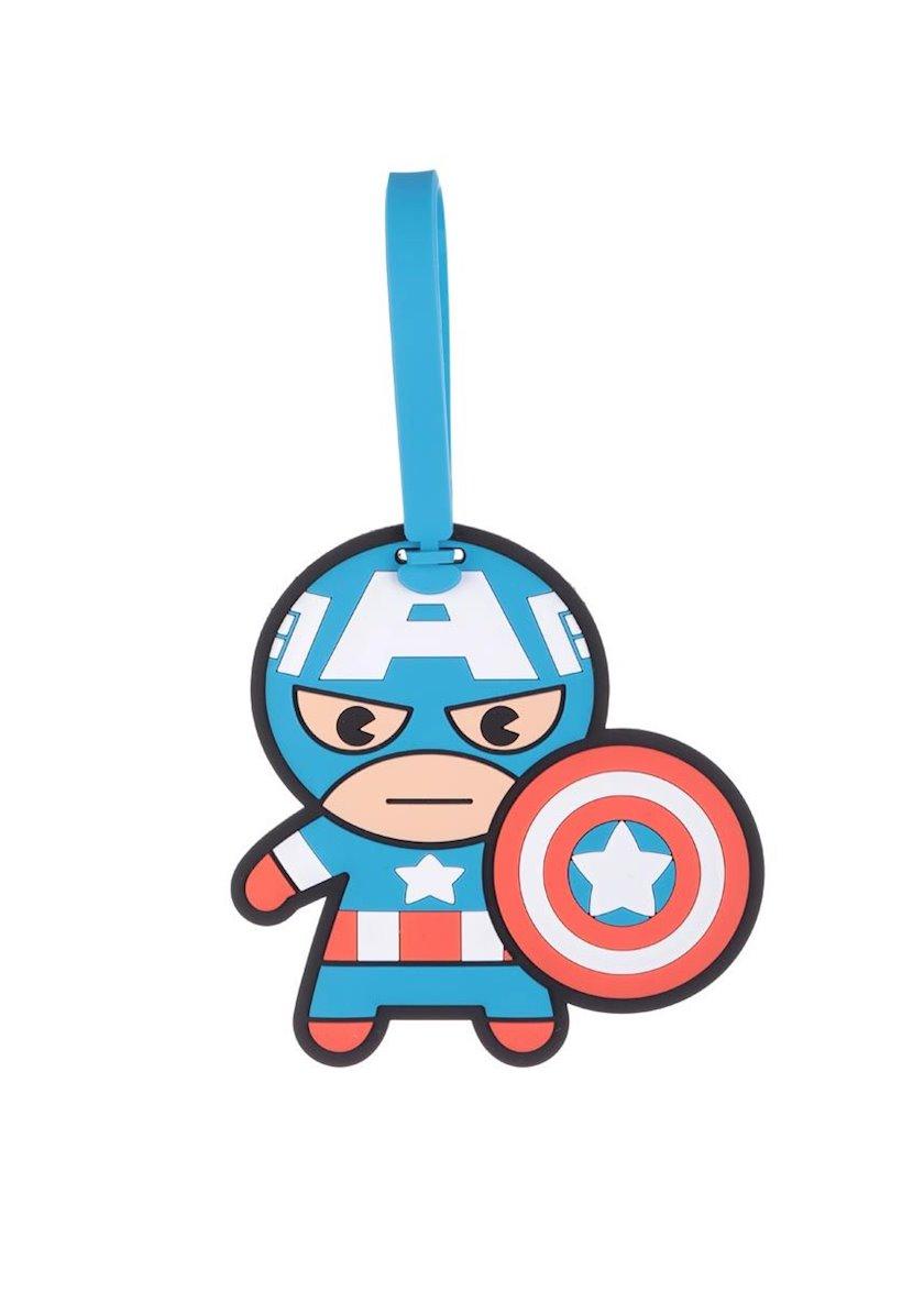 Çanta üçün brelok Miniso Marvel Luggage Tag Captain America, göy