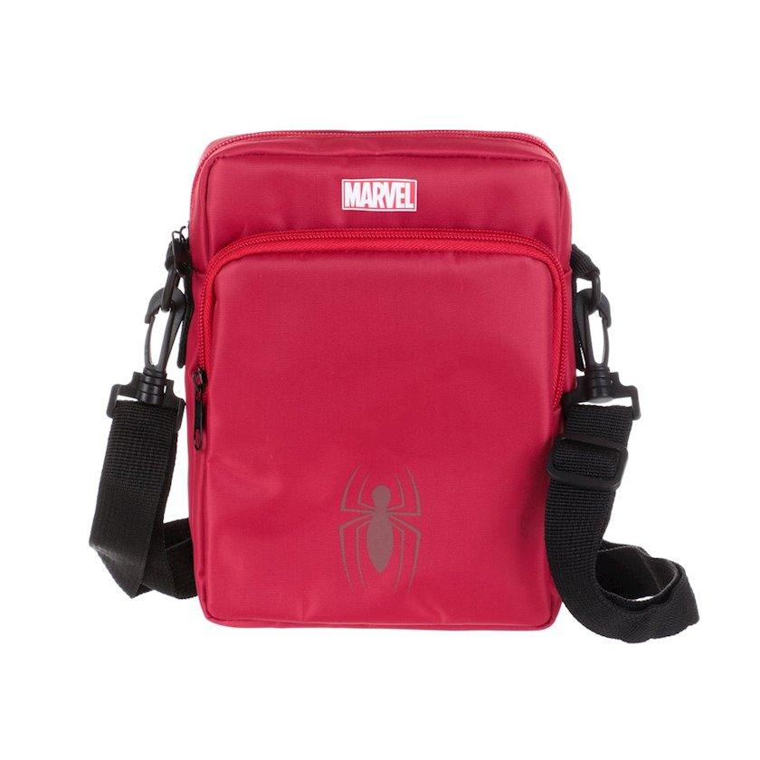 Kişi çantası Miniso Marvel Crossbody Bag Red, qırmızı