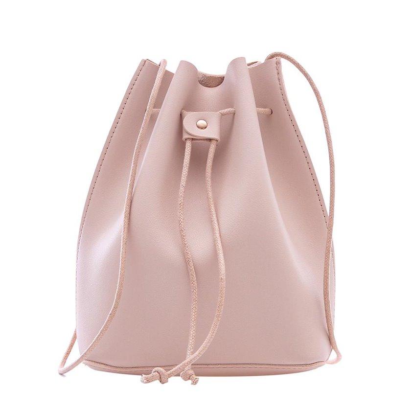 Qadın çantası Miniso Fashionable Bucket Bag Beige, bej