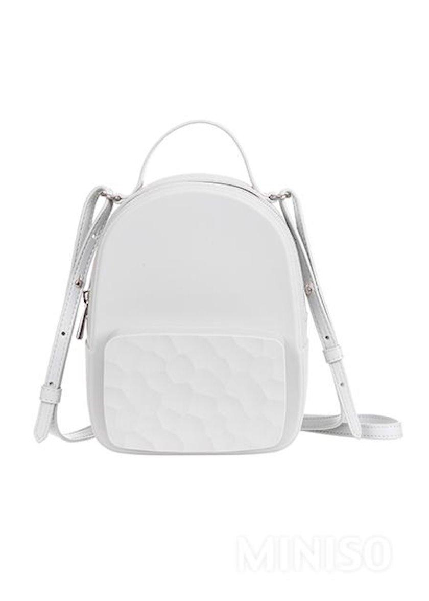 Qadın çantası Miniso Silicone Crossbody Bag Grey, boz