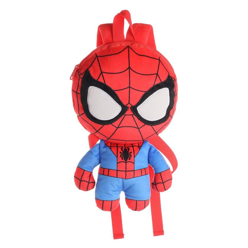 Uşaq bel çantası Miniso Marvel Collection Plush Backpack Spiderman, qırmızı