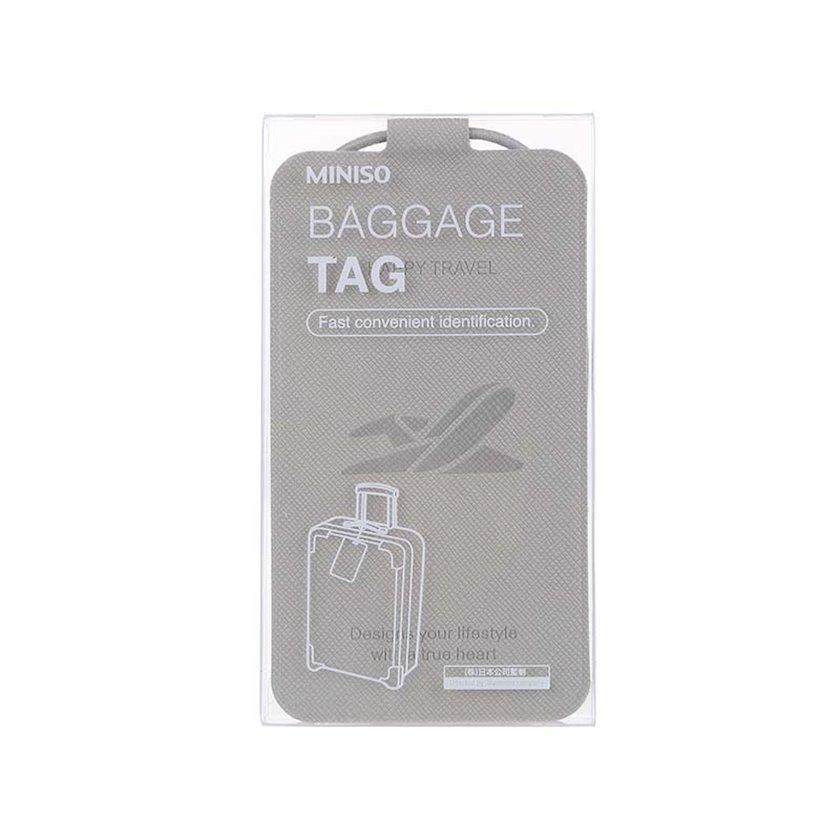 Çamadan üçün birka Miniso Baggage Tag 114678, boz
