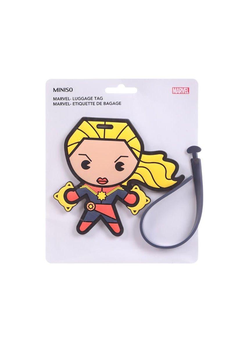 Baqaj üçün brelok-birka Miniso Marvel Collection Luggage Tag, Captain Marvel, Kapitan Marvel, sarı