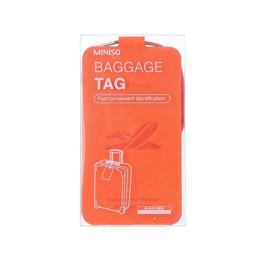 Baqaj üçün brelok-birka Miniso Baggage Tag, narıncı