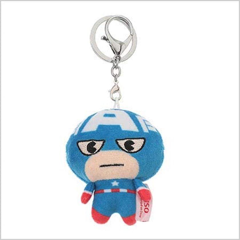 Brelok Miniso Marvel Collection Captain America, Kapitan Amerika, plüş, göy