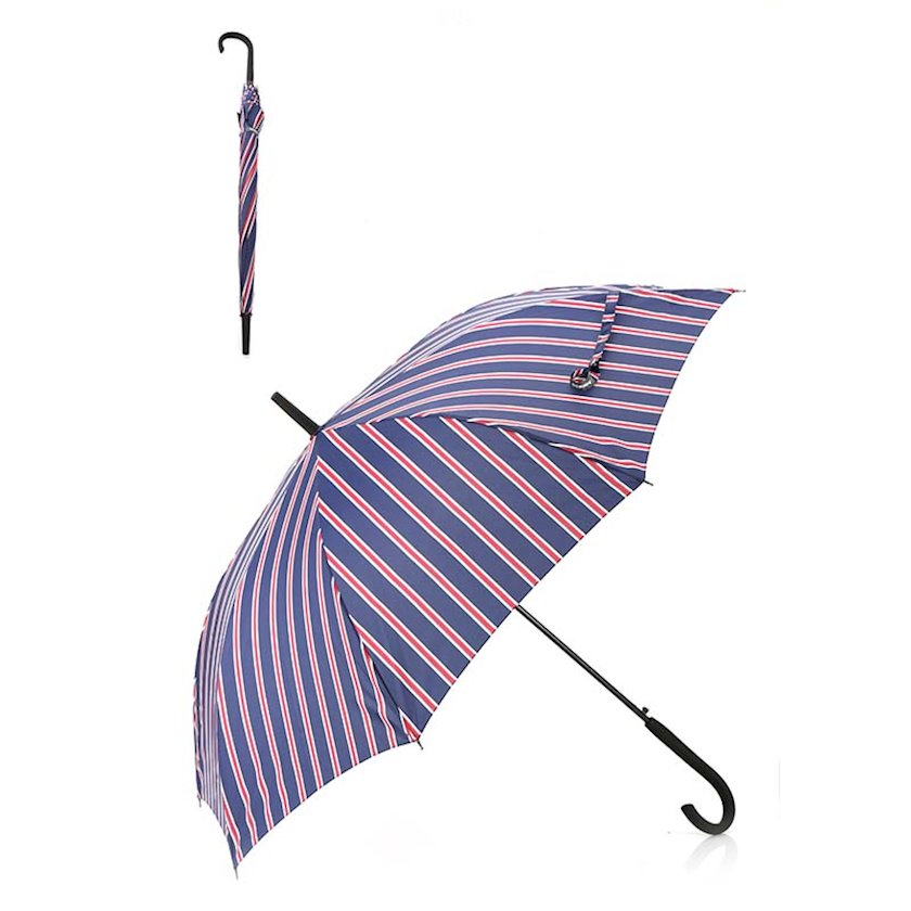 Çətir Miniso Tri-folded Umbrella with Stripes, Navy, tünd göy