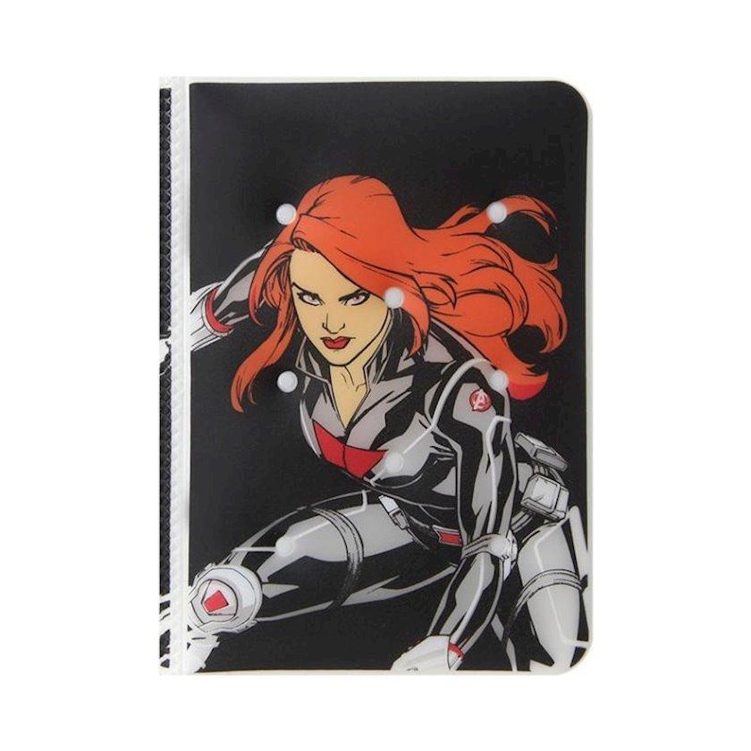 Pasport üçün üzlük Miniso Marvel Passport Cover, Black Widow, Qara dul, qara