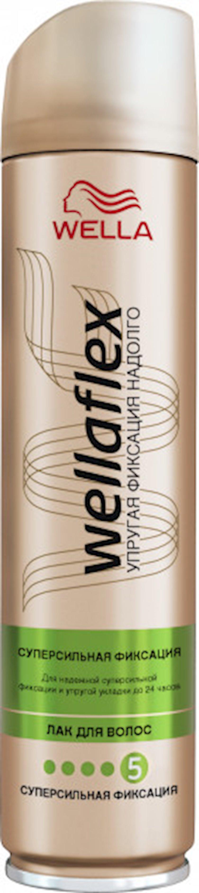 Saç lakı Wella Wellaflex Supergüclü Fiksasiya 250 ml