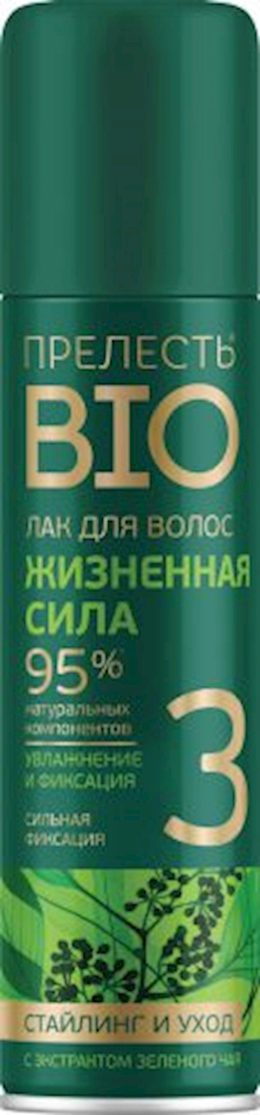 Saç üçün lak Прелесть Bio Həyat gücü 160 ml