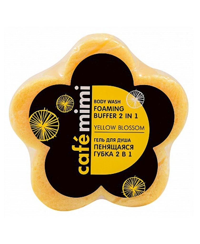 Köpüklənən düş süngəri Cafe Mimi 2-si 1-də Yellow Blossom