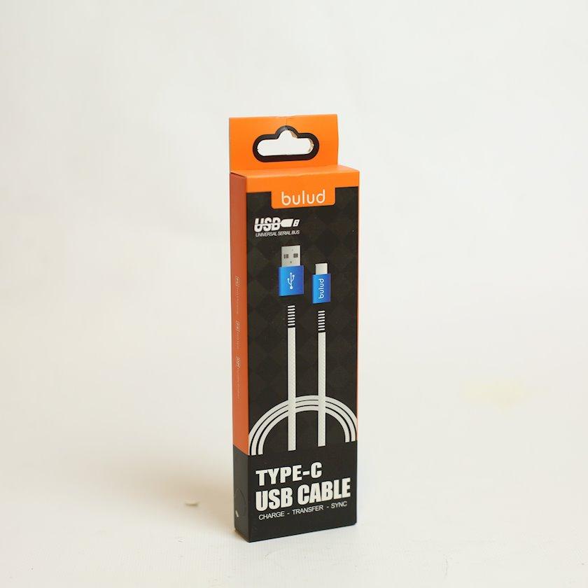 Kabel USB Bulud Type-C, 1 m, qara