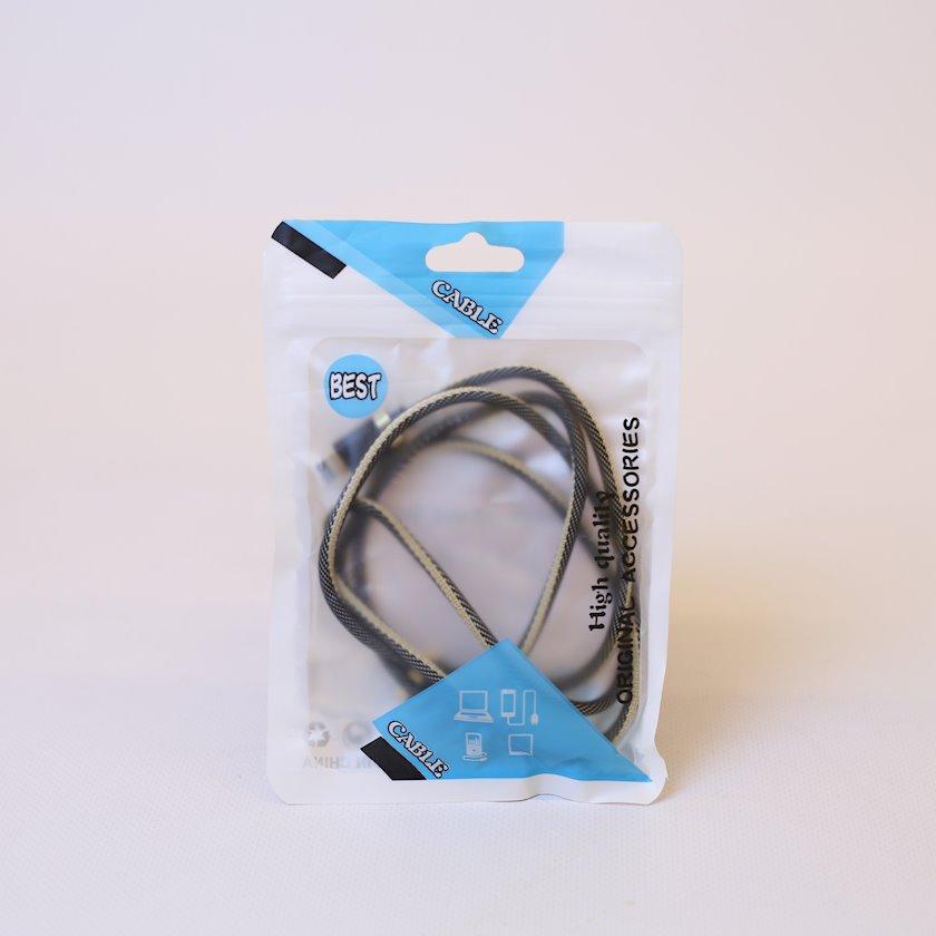 Kabel USB iPhone üçün, 1 m, qara